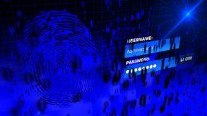 Zu sehen ist ein Bildschirm mit verschiedener Sicherheitssymbolik und einem Eingabefeld für Benutzer und Passwort. Es geht um IT-Security. Bild: Pixabay/Thomas Breher