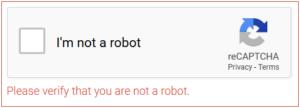 Der Markenführer reCAPTCHA
