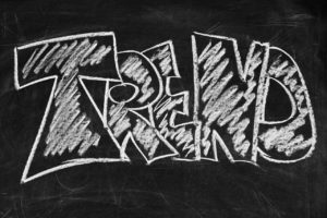 "Schriftzug ""Trend"" - IT-Trends 2019"