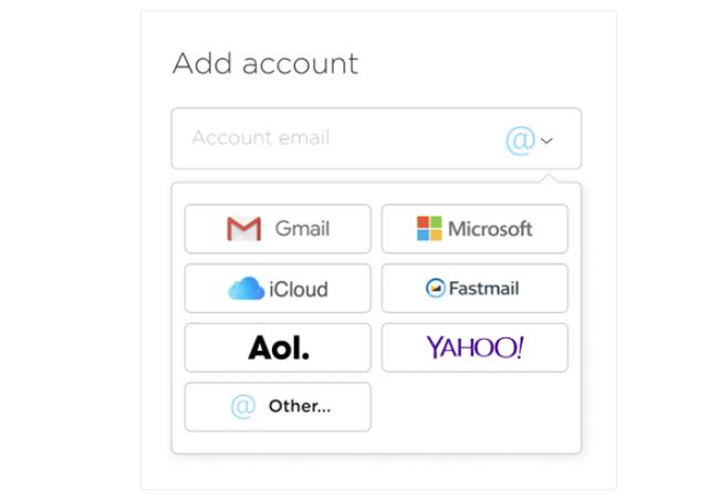 E-Mail-Dienstleister, die das Tool Leave Me Alone unterstützt. Bild: Screenshot Leave Me Alone