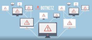Das Bild verdeutlicht den Aufbaue eines Botnet. Bild: Screenshot BSI