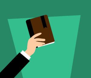 Zu sehen ist die grafische Darstellung eines Arms mit einem Buch in der Hand. Bild: Pixabay/mohamed Hassan/Bearbeitung IT-SERVICE.NETWORK