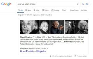 google onebox basierend auf scraping