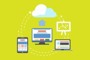Eine Grafik zeigt, wie Daten von Endgeräten in die Cloud gelangen. Es geht um ein Datensicherungskonzept. Bild: Pixabay/Mudassar Iqbal