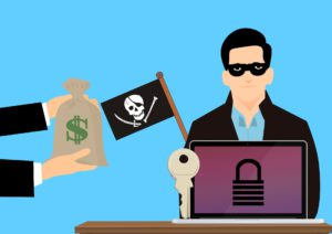Zu sehen ist eine Grafik, in der nach dem Befall von Ransomware das Lösegeld an den Erpresser übergibt. Ein Entschlüsselungsprogramm gibt es in diesem Fall nicht. Bild: Pixabay/mohamed Hassan
