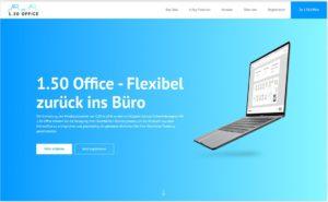 Das Bild zeigt einen Screenshot der Web-App 1.50 Office. Bild: Basecom