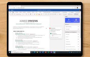 Auf einem Bildschirm ist Microsoft Word aufgerufen. Es hat viele neue Funktionen, die die Frage hinfällig machen: Wie lange kann man Office 2010 noch nutzen? Bild: Microsoft