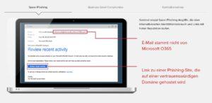 Demonstriert wird auf einem Laptop-Screen die Cyber-Angriff-Abwehr durch Barracuda Sentinel. Barracuda PhishLine trainiert dagegen die menschliche Firewall. Bild: Barracuda