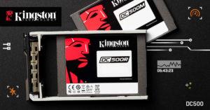Zu sehen sind zwei Modelle der Kingston DC500 Server SSD. Bild: Kingston