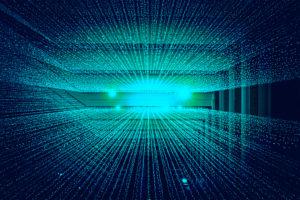 Zu sehen sind stilisierte Datenströme. Einer der IT-Trends 2021 ist die wachsende Bedeutung der Datenverwertung. Bild: Unsplash/Joshua Sortino