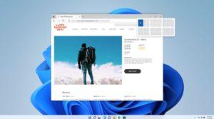 Zu sehen ist ein Screenshot von Windows 11, in dem verschiedene Optionen zur Anordnung von Fenstern zu sehen sind. Bild: Microsoft