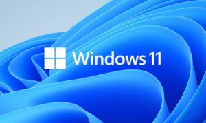 Zu sehen ist eine grafische Darstellung mit dem Schriftzug Windows 11. Bild: Microsoft